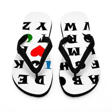 I love you Flip Flops