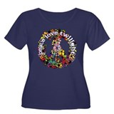 Peace Love Twilight by Twibaby Women's Plus Size S