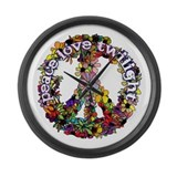 Peace Love Twilight by Twibaby Large Wall Clock