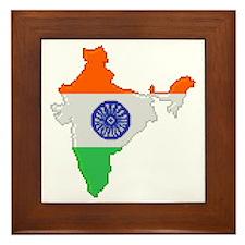 """""""Pixel India"""" Framed Tile"""