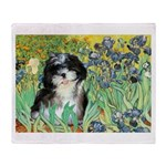 Irises / Shih Tzu #12 Throw Blanket