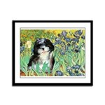 Irises / Shih Tzu #12 Framed Panel Print