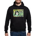 Irises / Shih Tzu #12 Hoodie (dark)