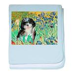 Irises / Shih Tzu #12 baby blanket