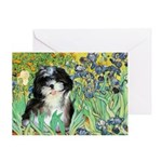 Irises / Shih Tzu #12 Greeting Card