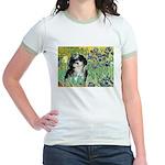 Irises / Shih Tzu #12 Jr. Ringer T-Shirt