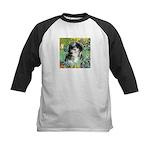 Irises / Shih Tzu #12 Kids Baseball Jersey
