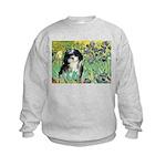 Irises / Shih Tzu #12 Kids Sweatshirt