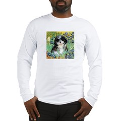 Irises / Shih Tzu #12 Long Sleeve T-Shirt
