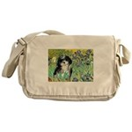 Irises / Shih Tzu #12 Messenger Bag