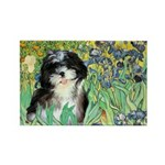 Irises / Shih Tzu #12 Rectangle Magnet (10 pack)