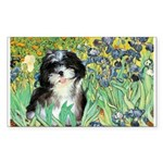 Irises / Shih Tzu #12 Sticker (Rectangle)