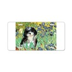 Irises / Shih Tzu #12 Aluminum License Plate