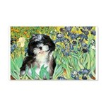 Irises / Shih Tzu #12 20x12 Wall Decal