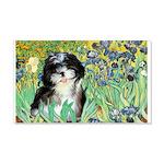 Irises / Shih Tzu #12 20x12 Wall Decal