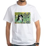 Irises / Shih Tzu #12 White T-Shirt
