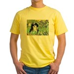 Irises / Shih Tzu #12 Yellow T-Shirt