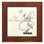 Stop The Gluten Framed Tile
