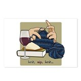 Knit Sip Knit Postcards (Package of 8)