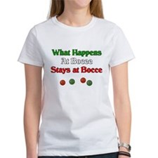 What happens at bocce stays at bocce. Tee