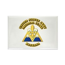Army National Guard - Montana Rectangle Magnet