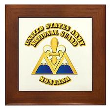 Army National Guard - Montana Framed Tile