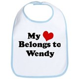 My Heart: Wendy Bib
