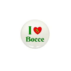 I Love Bocce Mini Button (100 pack)