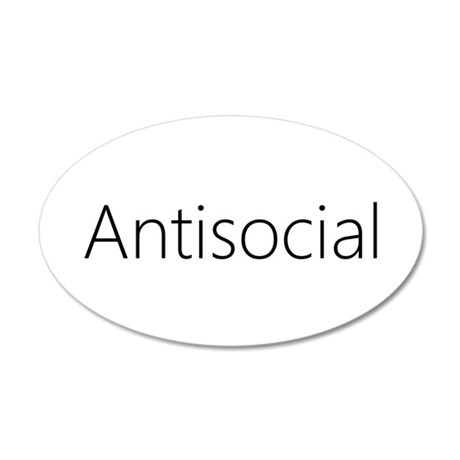 Antisocial 22x14 Oval Wall Peel