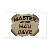 Master Of The Man Cave Car Magnet 20 x 12
