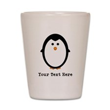 Personalized Penguin Shot Glass
