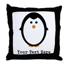 Personalized Penguin Throw Pillow