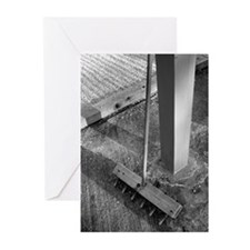 Zen Wooden Rake Greeting Cards (Pk of 10)