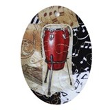 Red Conga Drum Ornament