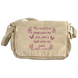 Inspirational Bible sayings Messenger Bag