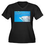 Off the Hook Women's Plus Size V-Neck Dark T-Shirt