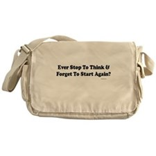 Forget To Think Messenger Bag