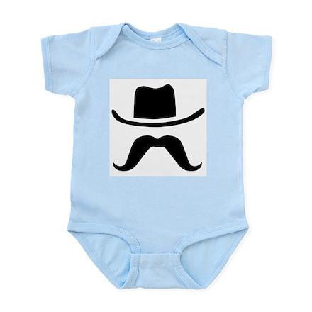 Hat & Mustache Infant Bodysuit