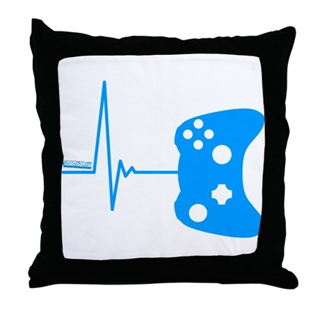 Gamers Heart Beat Throw Pillow