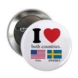 USA-SWEDEN 2.25&quot; Button (10 pack)