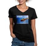 Divine Plan Women's V-Neck Dark T-Shirt