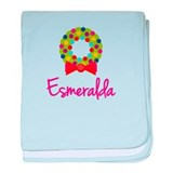 Christmas Wreath Esmeralda baby blanket