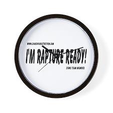 Rapture Ready Wall Clock