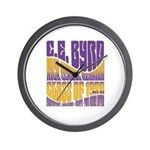 C.E. Byrd Reunion Type only Wall Clock