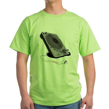 Turntable Plug Green T-Shirt