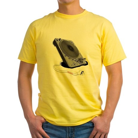 Turntable Plug Yellow T-Shirt