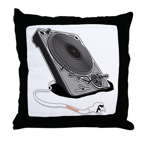 Turntable Plug Throw Pillow