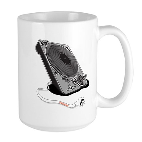 Turntable Plug Large Mug