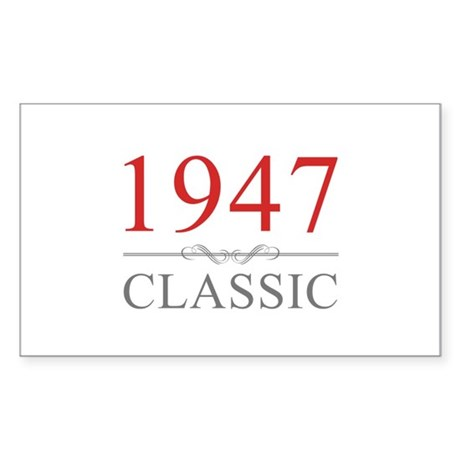 1947 Classic Sticker (Rectangle)