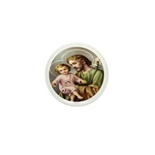 Saint Joseph and Child Jesus 10 Mini Buttons